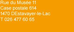 Arcades Estavayer-le-Lac